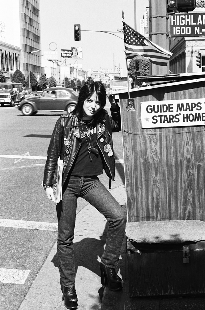 Joan Jett Hollywood Blvd 1977 Photo by Brad Elterman NOT FOR PUBLICATION WITHOUT PRIOR PERMISSION!!