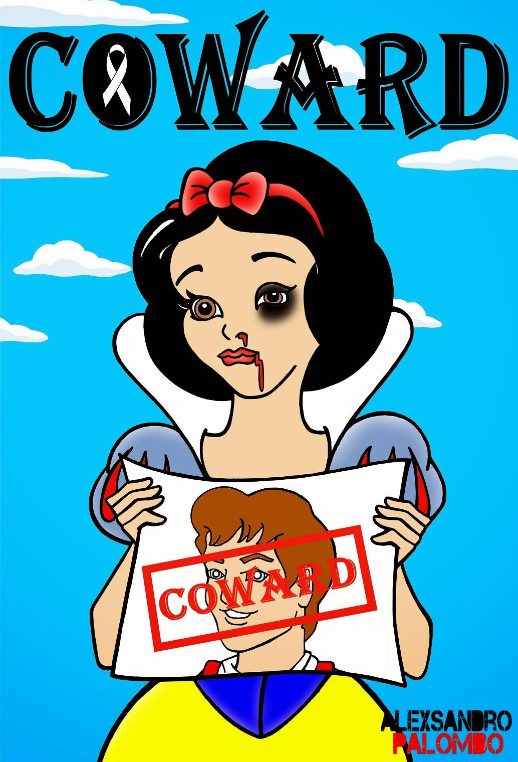 Disney Princess Snow White COWARD No Violence Against Women by aleXsandro Palombo Web