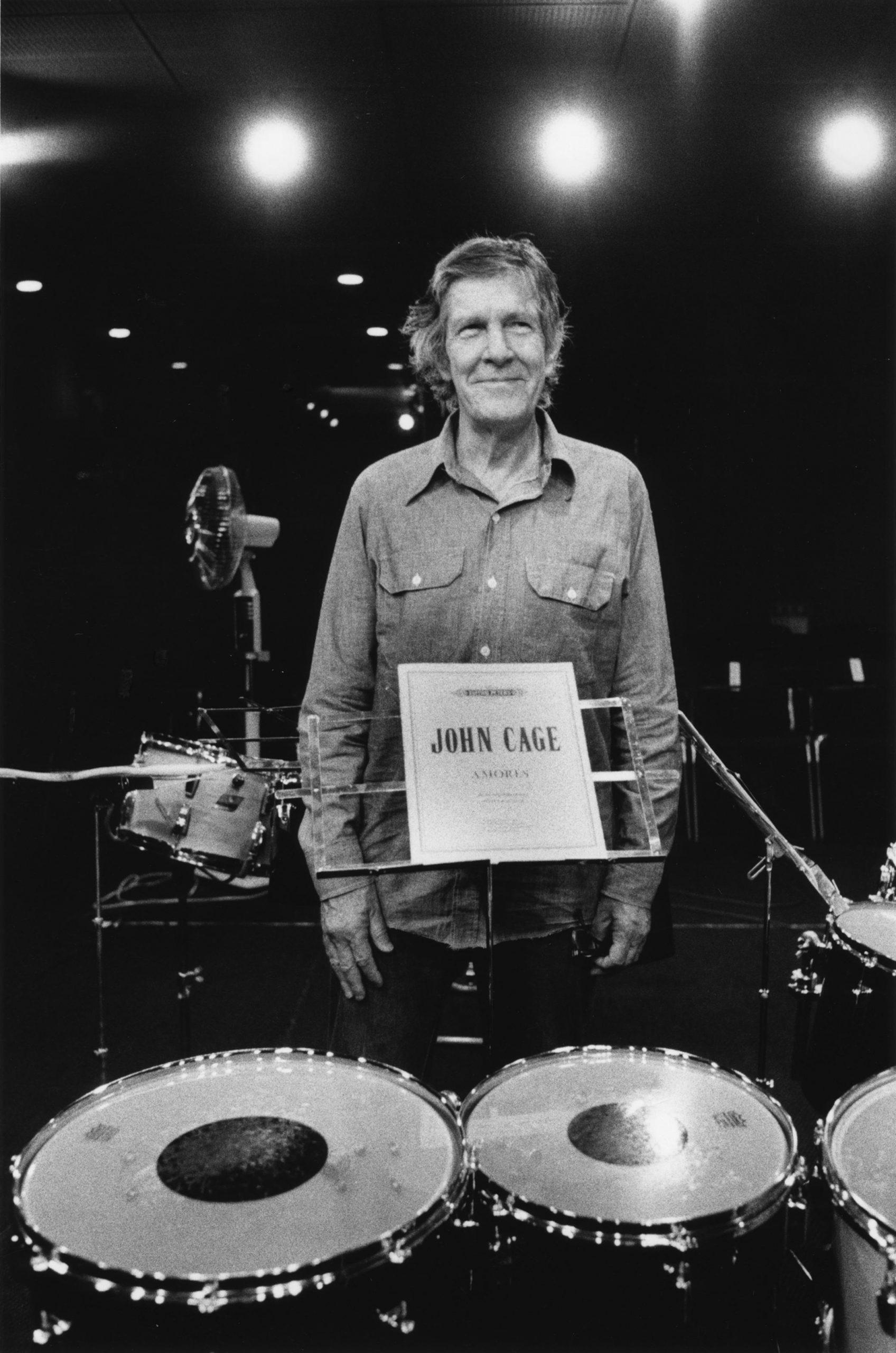 John Cage, 1986. Photo credit: Akira Kinoshita, courtesy of the John Cage Trust