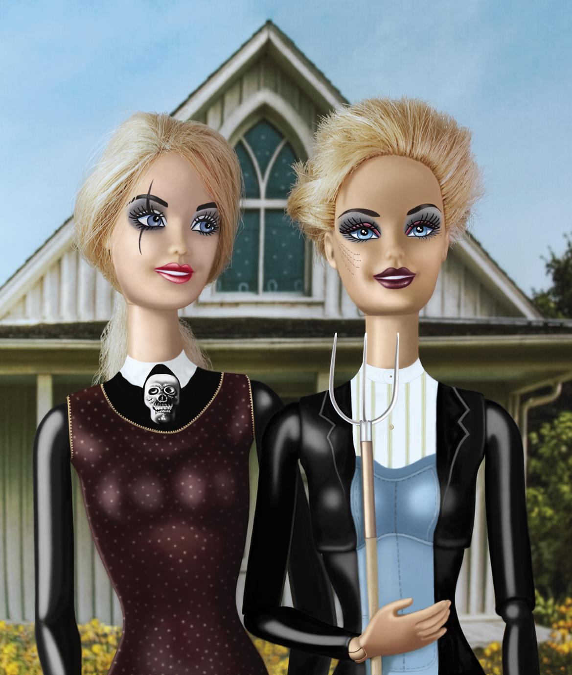 Gothic couple . clin d'oeil à Grant Wood