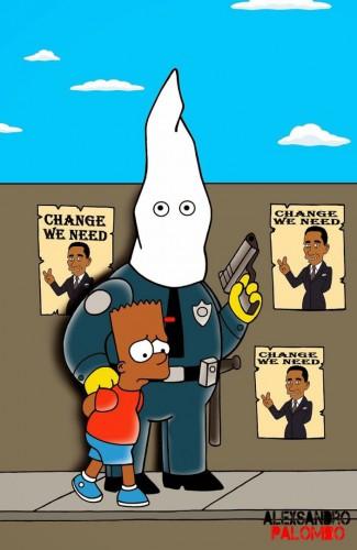 The-Simpsons-Black-Eric-Garner-Statue-of-Freedom-Homer-Simpson-Marge-Bart-Lisa-Clancy-Bill-De-Blasio-Police-Stop-Racism-10-703x1080