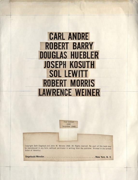 Maquette de la page de titre du livre Xerox 1968